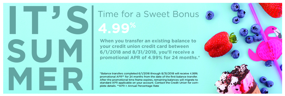 It's Summer Time - Balance Transfers as low as 4.99%